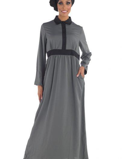 Crepe Abaya Grey