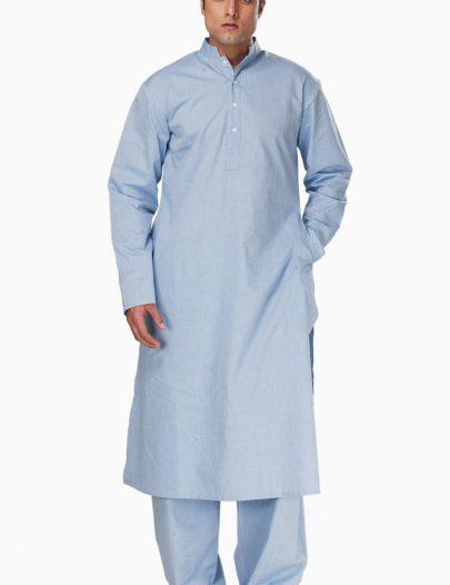 Fadil Kurta Set Blue