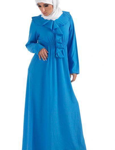 Frilly Abaya Turquoise