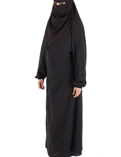 Full Length Burqa With Niqab- Final Sale Item Black