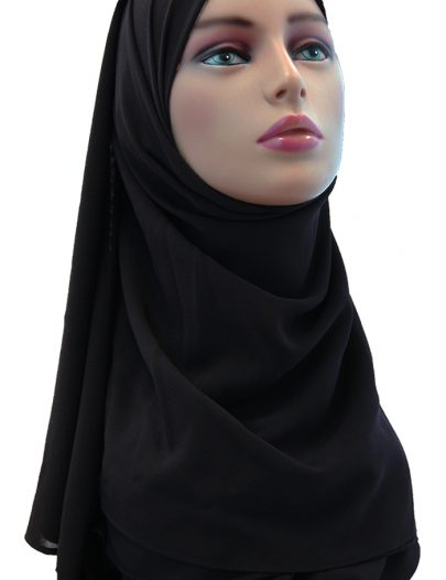 Georgette Hijab Black