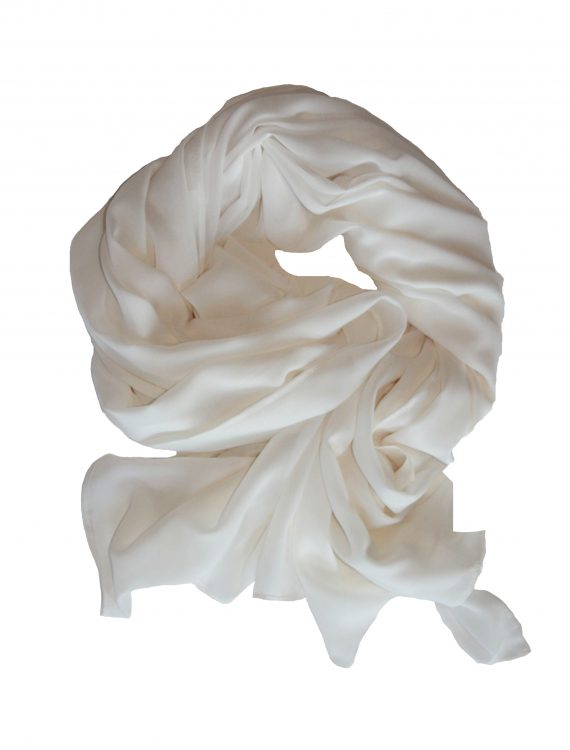 Georgette Hijab Ivory White