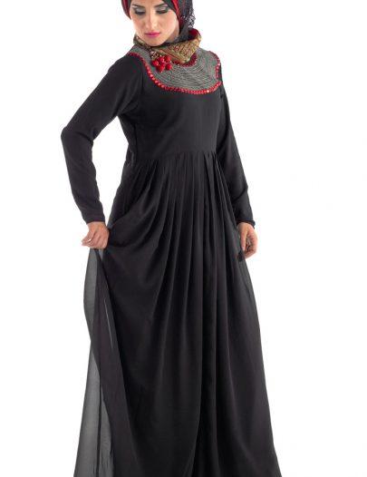 Haskat Abaya Black