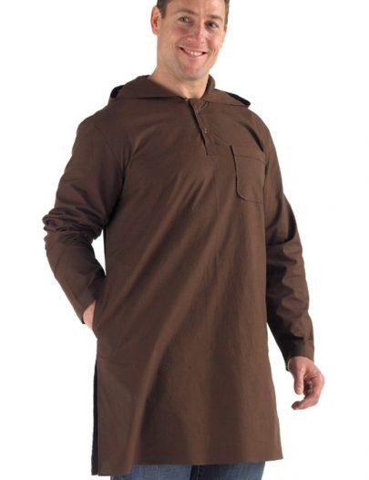 Hooded Farhan Kurti-Brown Brown