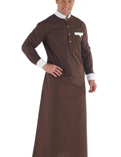 Jaheer Men's Jubba Dishdasha Black