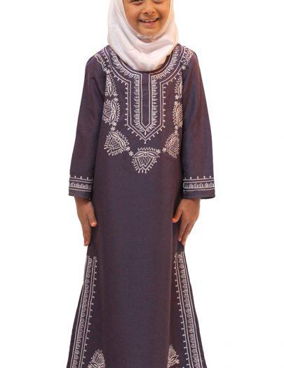 Jasmin Girls Abaya Violet