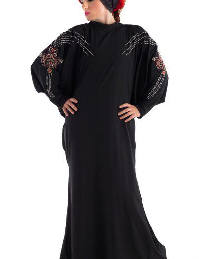 Jewel Dubai Abaya Black
