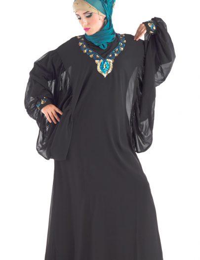 Kiladah Dubai Abaya Black