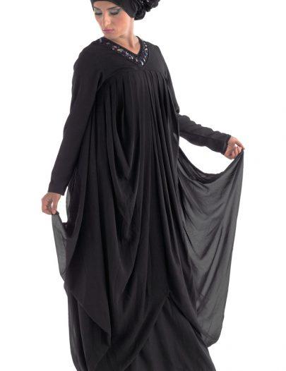 Layered Abaya Black