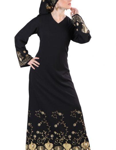 Madaniya Abaya Sequin Black