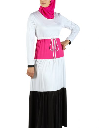 Modest Beach Wear Abaya White