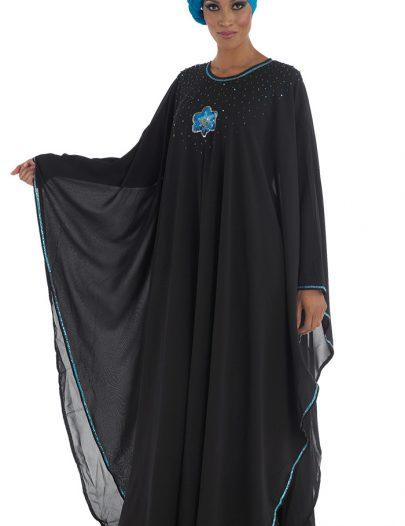 Modest Kaftan Abaya Black