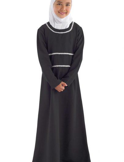 Nathifa Girls Abaya Black