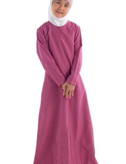 Navil Girls Abaya Dark Pink
