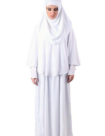 Prayer Abaya White