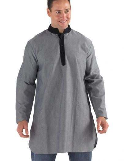 Sahaar Manadarin Collar Kurta Grey/Black