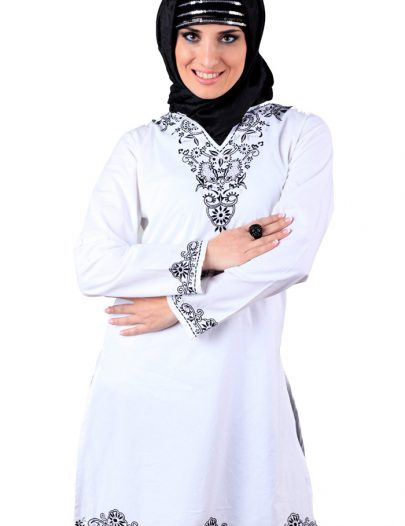 Shafa Cotton Tunic Kurti White