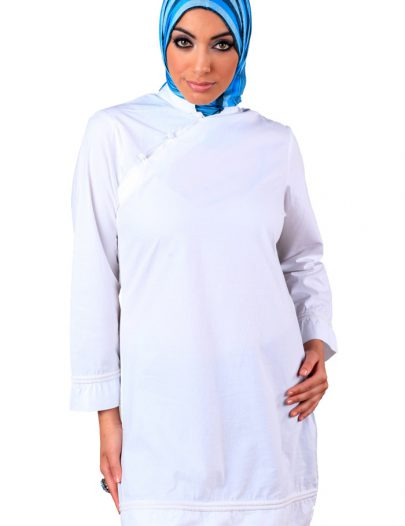 Sophisticated Asian-Style Kurti White