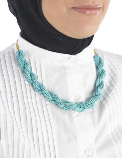 Turquoise Braid Necklace