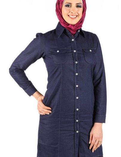 Western Denim Tunic Blue