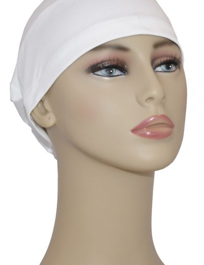 White Underscarf Hijab Cap