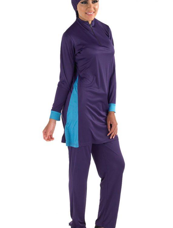 Zoon Burqini Set Purple W/Blue Trims